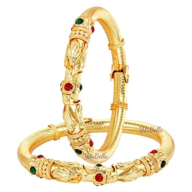 Traditional Bollywood Ethnic Goldplated Bangle Bracelet Kada Jewellery 2*8 Making Things Convenient For The People Bridal & Wedding Party Jewelry