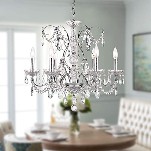 Progress Lighting P4158-77 3-Light Down Chandelier Features Scrolled Metalwork with Trumpet-Shaped Textured Glass Shades, Forged Bronze
