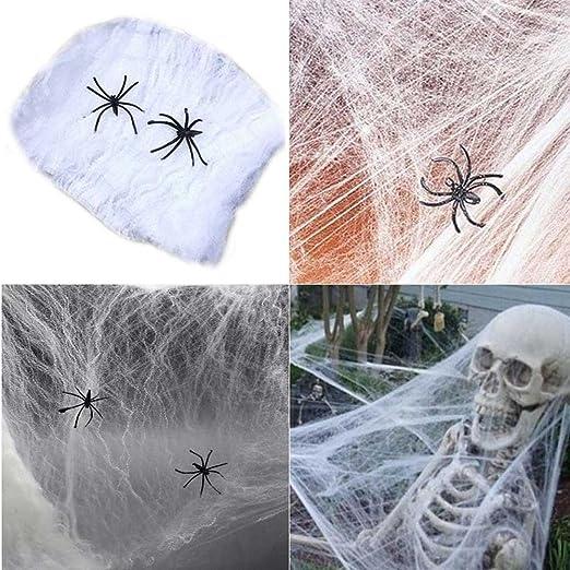 Hazoulen Halloween Spider Web Webbing for Halloween Decorations Props 9 Feet