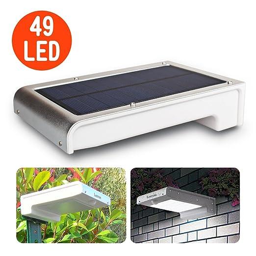 42 opinioni per Leeron Luce Solare Lampada ad Energia Solare da Esterno con Sensore di Movimento