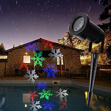 0ef07d0c552 cuzile Colorful Copo de nieve proyector LED Proyector Exterior Jardín  Starry Luz datenübertragungssystemen Dynamic lámpara resistente