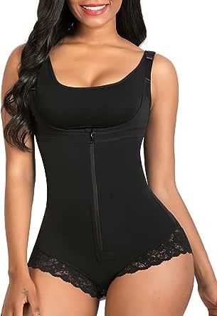 SHAPERX Dames Shapewear Body Shaper Afslanken Buik Controle Korset Open Bust Bodysuit