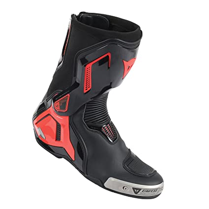 7f35be72f Amazon.com  Dainese Torque Out D1 Mens Boots Black Fluo Red 44 Euro 11 USA   Automotive