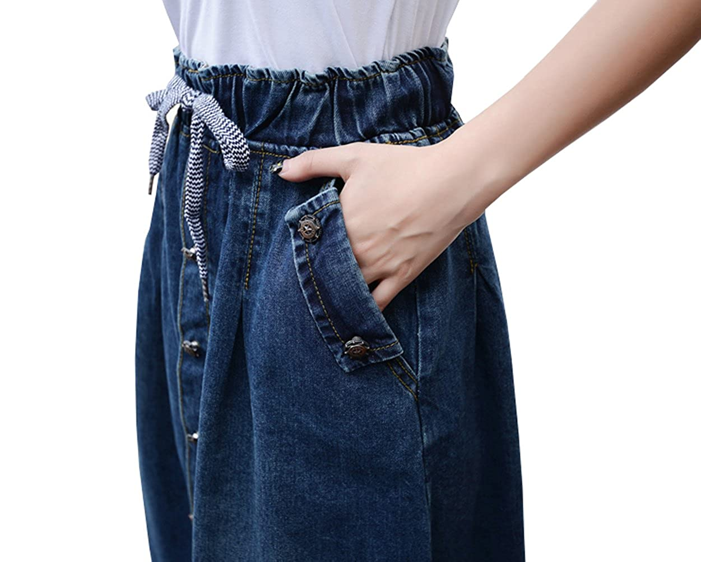 b167e05169 Only Faith Women Loose A-line Long Denim Skirt Pocket Denim Skirts at  Amazon Women's Clothing store: