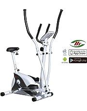 AsVIVA Cardio C162en 1Vélo elliptique Cross Trainer et vélo d'appartement avec inertie 15kg, Bluetooth ordinateur avec App utilisation avec 8niveaux de résistance et flüsterleisem Courroie d'entraînement