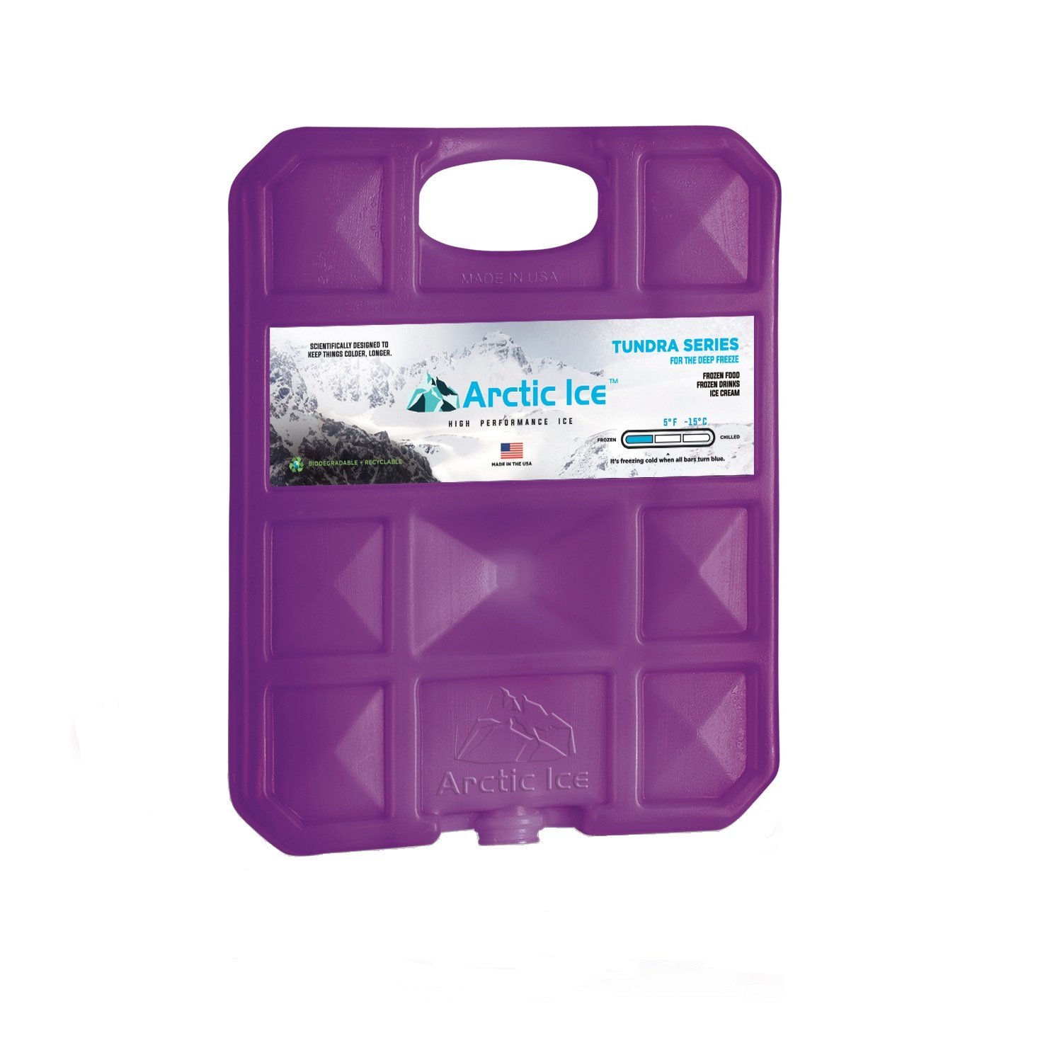 Long Lasting Ice Pack for Coolers, Camping, Fishing and More, Large Reusable Ice Pack, Tundra Series by Arctic Ice