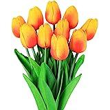 Veryhome Fiore Artificiale Fiore Finto Tulipano Materiale in Lattice Vero Tocco Matrimonio Stanza Famiglia Alberghi Festa DIY al operto Decorazione
