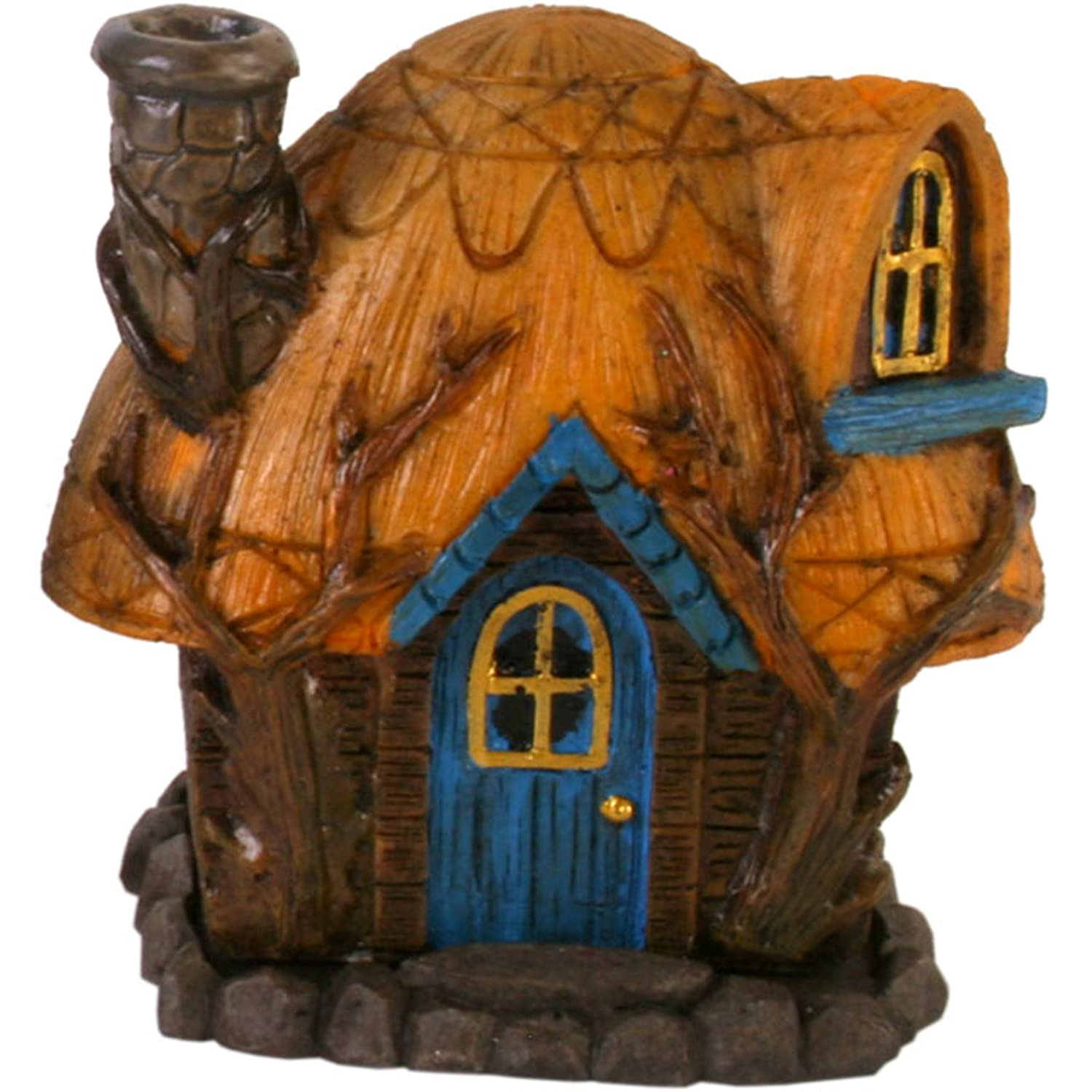 Fairy House Smoking Chimney Incense Burners Buttercup Cottage Yellow Spi