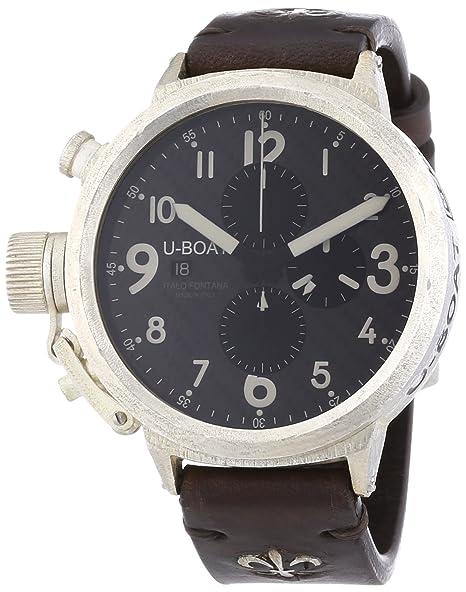 U-Boat 7285 - Reloj de automático para hombre, con correa de cuero, color marrón: Amazon.es: Relojes