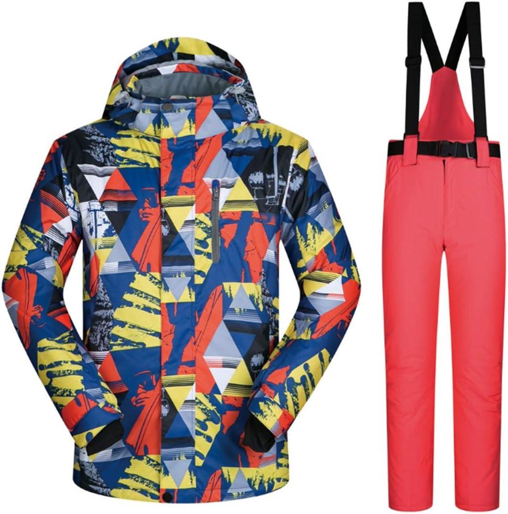 メンズスキージャケットとズボンスノースーツM-XXXL (Color : 01, サイズ : M)  Medium