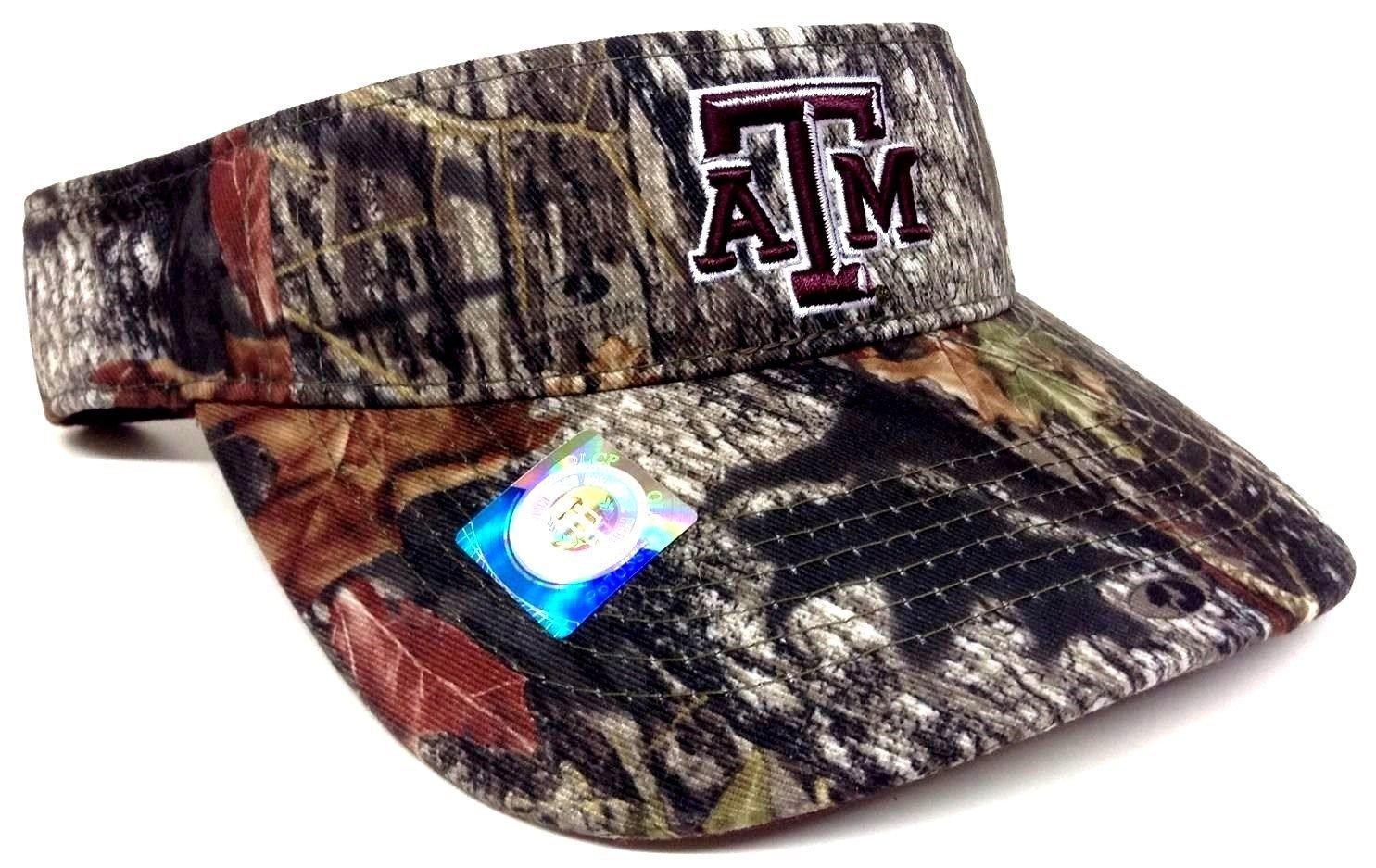 Amazon.com   Visor Texas A M Aggies Mossy Oak Camouflage Camo Hat Cap    Sports   Outdoors 5b09fb1036e