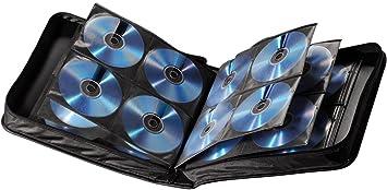 Hama - Estuche porta CD para 160 CD/DVD/Blu-rays, portafolios para guardar CD, negro: Amazon.es: Informática