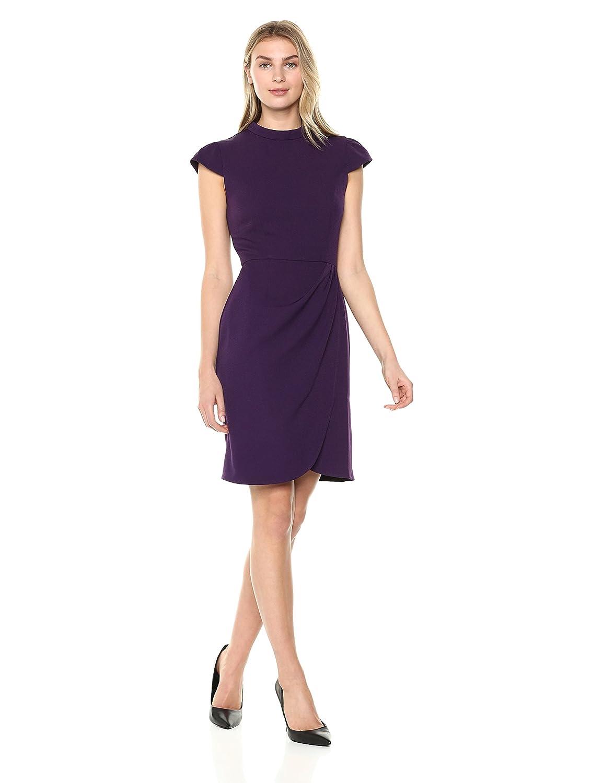 8e3c5663 Amazon.com: Amazon Brand - Lark & Ro Women's Cap Sleeve Mockneck Ruched  Dress: Clothing