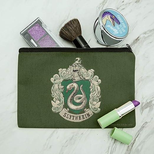 Harry Potter Slytherin - Bolsa organizadora de maquillaje con escudo pintado
