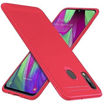 9caa433593d iBetter para Samsung Galaxy A40 Funda, Fina de Silicona Funda, para Samsung  Galaxy A40 Smartphone.Rojo: Amazon.es: Electrónica