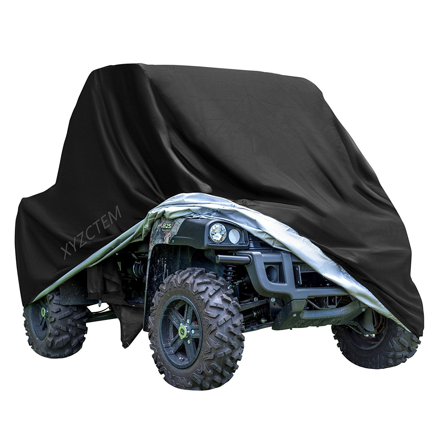 XYZCTEM UTV Cover with Heavy Duty Black Oxford Waterproof Material, 158.10'' x 62.06'' x 75.20'' (402 158 191cm) Included Storage Bag. Protects UTV From Rain, Hail, Dust, Snow, Sleet, and Sun (XXXL) by XYZCTEM