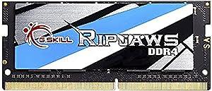 G.SKILL 16GB Ripjaws Series DDR4 PC4-21300 2666MHz 260-Pin Laptop Memory Model F4-2666C18S-16GRS