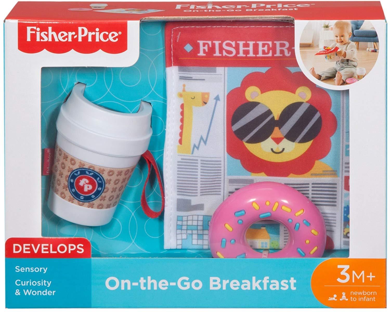 3 Mois et Plus Fisher-price D/éjeuner /à Emporter Jouet Dimitation pour /Éveiller Les Sens de B/éb/é Fgh85