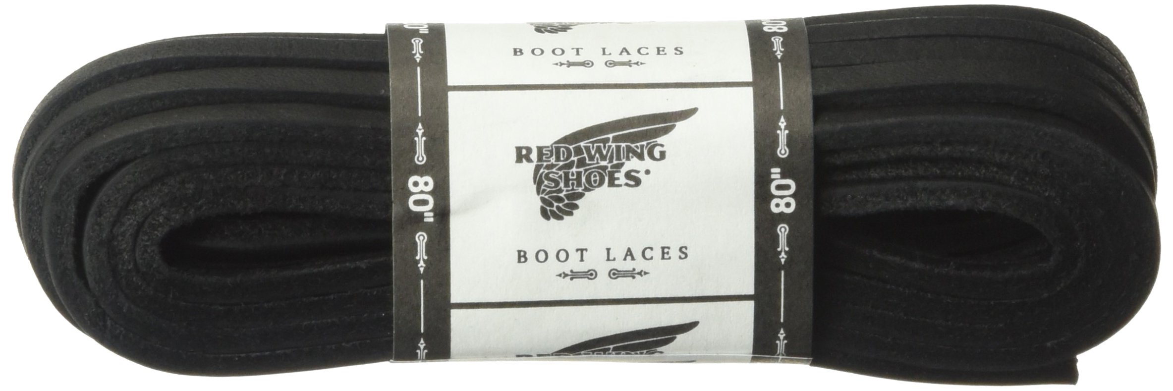 Red Wing Heritage 80-Inch Leather Lace Shoelaces, Black, 80 Inch
