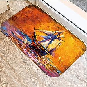 KFEKDT Romantic Lavender Field Carpet Entrance Indoor Door Mat Non-Slip Kitchen Carpet Bathroom Bath Mat Garden Floor Mat No-4 40cmx60cm