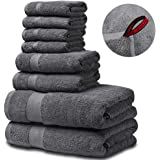 SEMAXE Luxury Bath Towel Set. Hotel & Spa Quality. 2 Large Bath Towels, 2 Hand Towels, 4 Washcloths. Premium Collection…