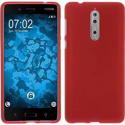 pretty nice 8b8d5 b48f4 Amazon.com: PhoneNatic Silicone Case for Nokia 8 matt red - Cover ...