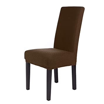 SCHEFFLER-Home Luna 2 Fundas de sillas, Estirable Cubiertas de la sillas, extraíble elástica Funda, con Banda elástica, Ajuste Universal, Altura ...