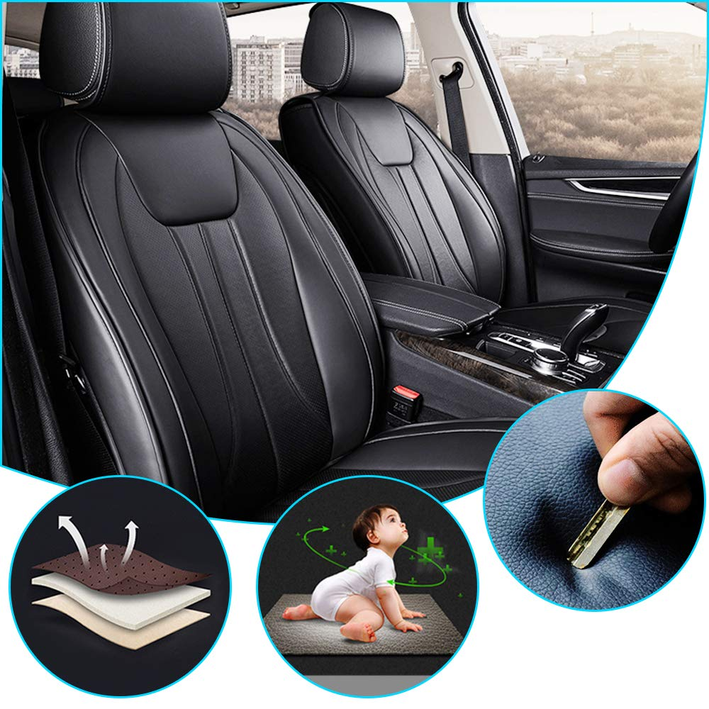 for Tesla TSL Model X 2016-2017 6-Seats Car Interior Cushion Four Seasons Universal Breathable Full Seat Covers(Airbag Compatible) Beige