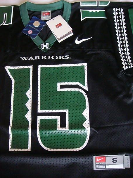 NIKE Hot Hawaii Warriors Colt Brennan Jersey #15, Black, Small ...