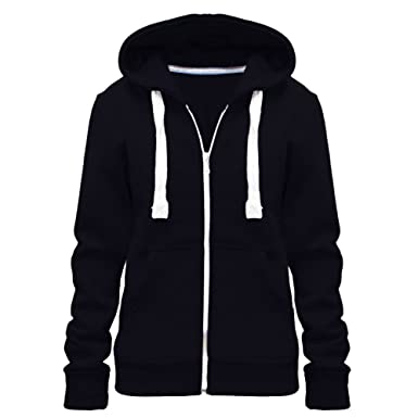 7e03636ca61 Urban Diva Ladies Girl WomensNEW Plus Size Zip up Sweatshirt Hooded Hoodie  Coat Jacket Top UK Size 8-28