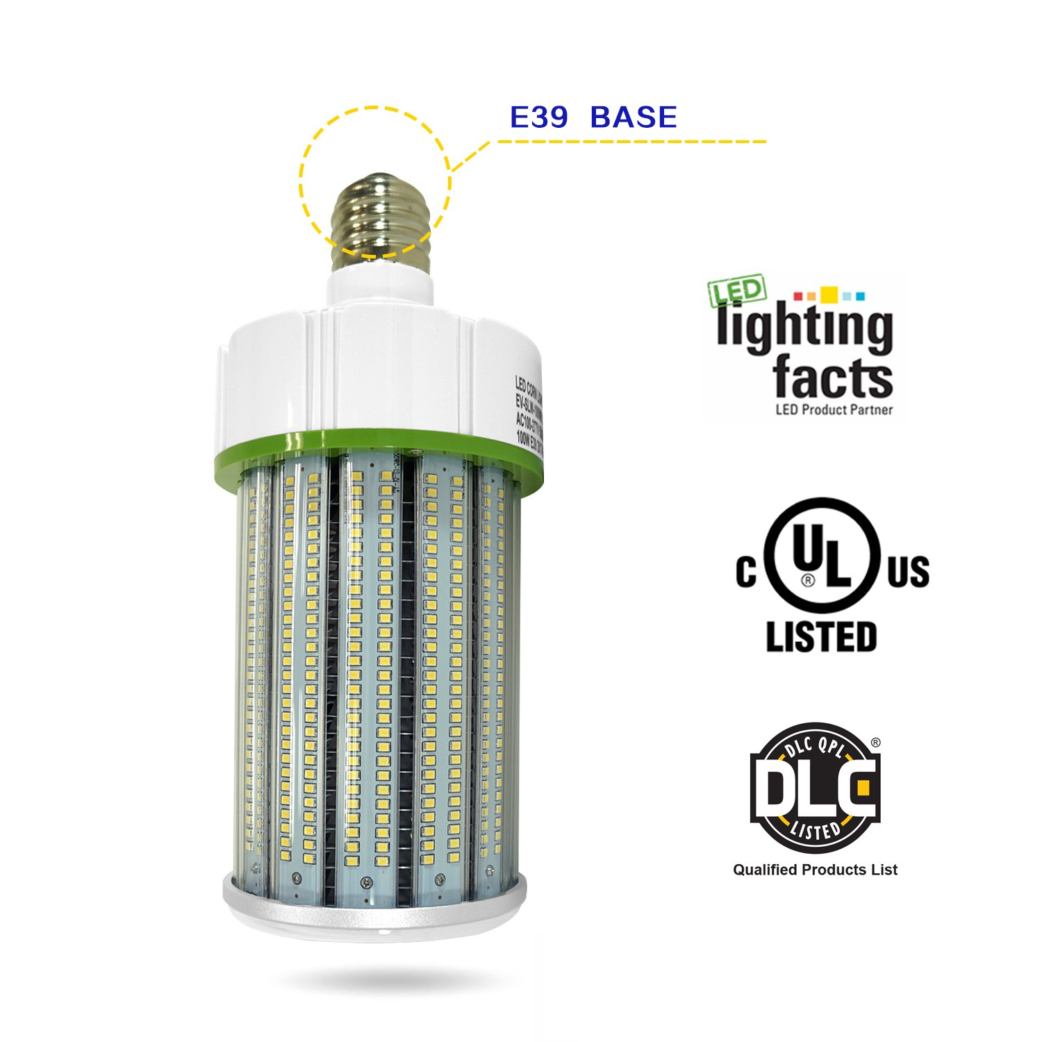 100Watt LED Corn Light Bulbs 12000lumen (600 to 700W Equivalent) Large Mogul Screw E39 Base Daylight 5000K LED Retrofit Lamp,360 Degree Flood Light, Replacement for Metal Halide Bulb, HID, CFL, Hps