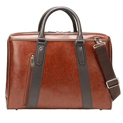 0c75b5c25053 Image Unavailable. Image not available for. Color  Ronts Vintage Laptop  Handbag PU Leather Shoulder Bag Business Office Briefcase for Men ...