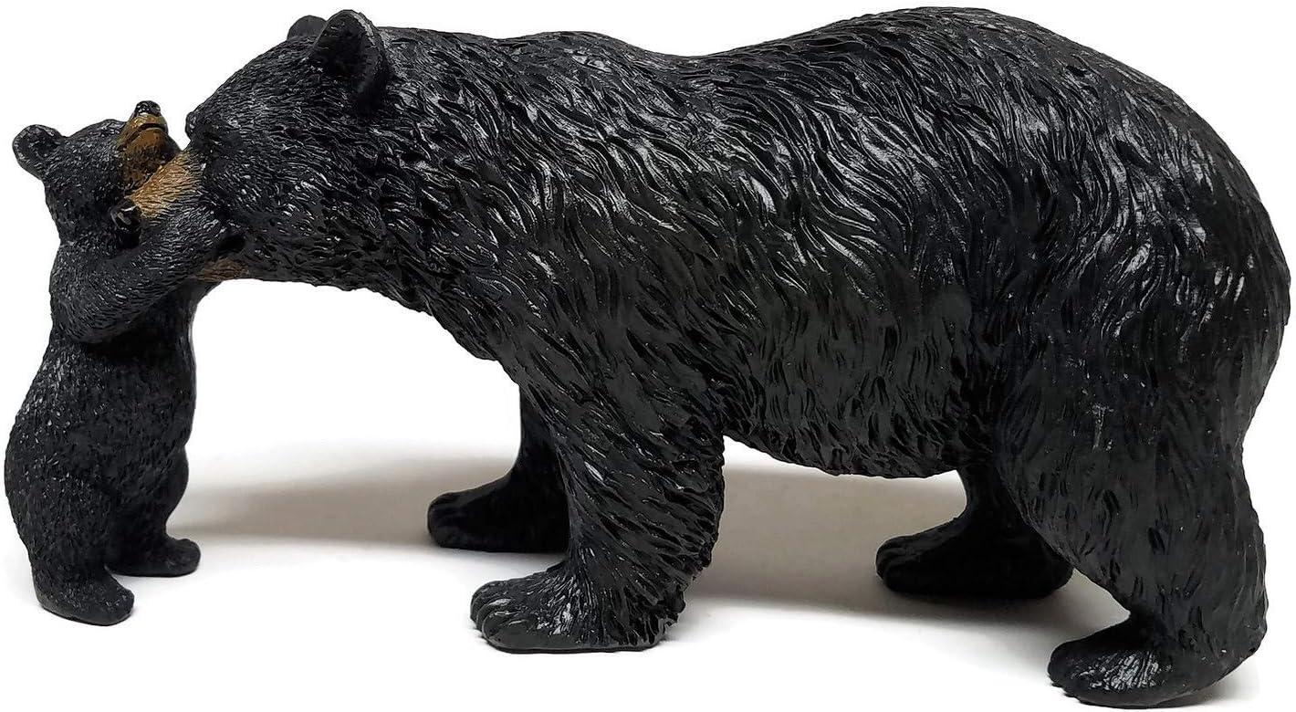 "Wilderness Lodge Black Bear with Cub Figurine, 8"""