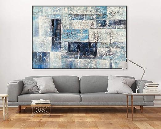 Kunstloft® Extraordinario Cuadro al óleo Segmented Blocks ...
