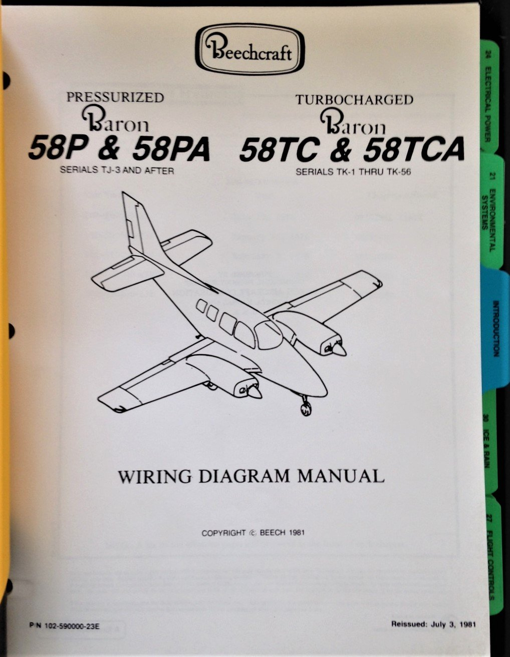 Strange Beechcraft Baron Wiring Diagram Manual Beech Aircraft Corporation Wiring 101 Relewellnesstrialsorg