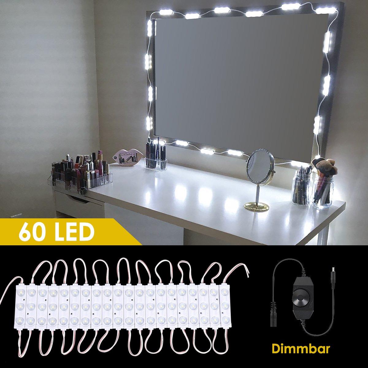 B-right LED Spiegelleuchte dimmbare Spiegellampe, Schminkleuchte ...