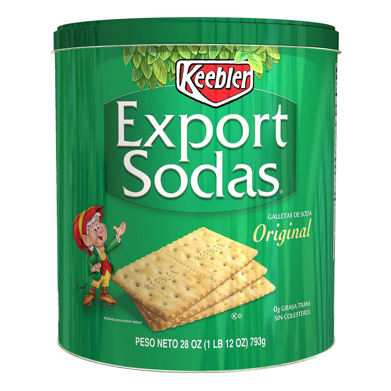 Keebler Export Sodas Crackers, 28 Oz 12 Pack by Keebler