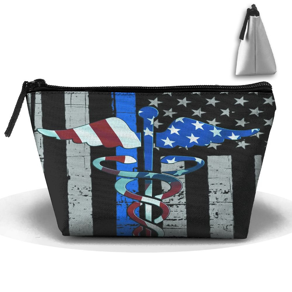 f0708d26d564 Enuain American Flag Nurse Makeup Bag Travel Cosmetic Pouch Storage ...