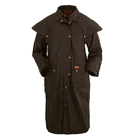 Outback Trading Co. Low Rider Duster Mens Coat Brown 100% Cotton Oilskin 3XL 98073fc1c059
