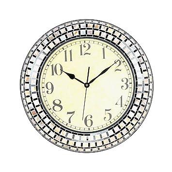 ZHAOJING Neue Abschnitt Modische Wanduhr Wohnzimmer Kreative Wanduhr  Mittelmeer Shell Mosaik Uhren