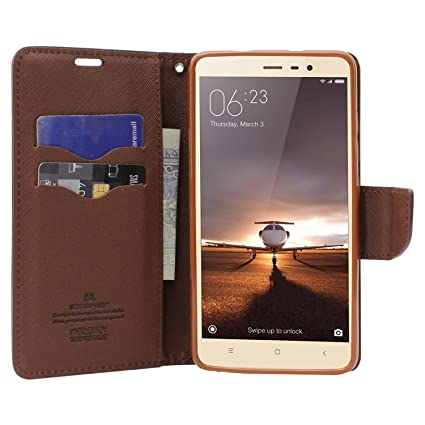 9b3108d621 Online india XIAOMI red mi Note 3 FLIP Cover Imported Mercury goospery  Fancy Diary Wallet flip