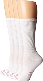product image for Dan Post Cowgirl Certified DP Lites Crew Socks 4-Pack White 9 (Women's Shoe 7-9.5)