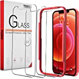 TOZO Compatible for iPhone 12 Mini Screen Protector 3 Pack Premium Tempered Glass 0.26mm 9H Hardness 2.5D Film Easy 5.4…