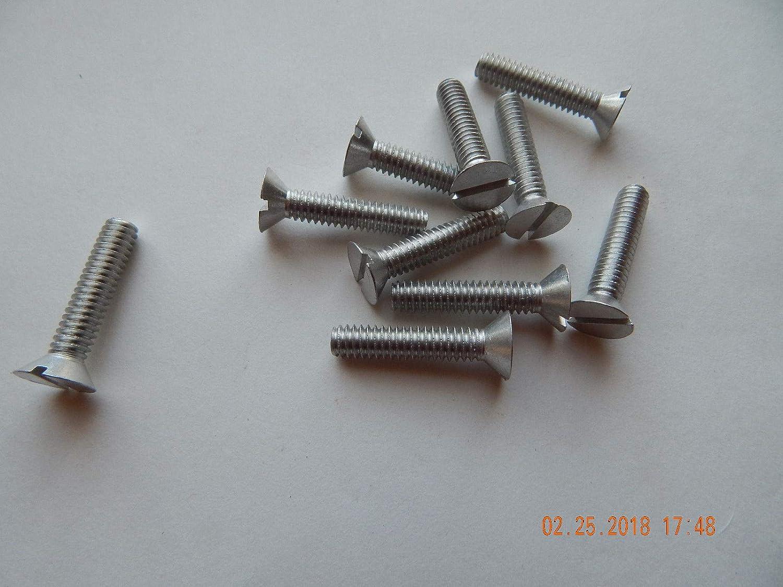 1//4-20x1 Round Head Slotted Machine Screws Stainless Steel 10