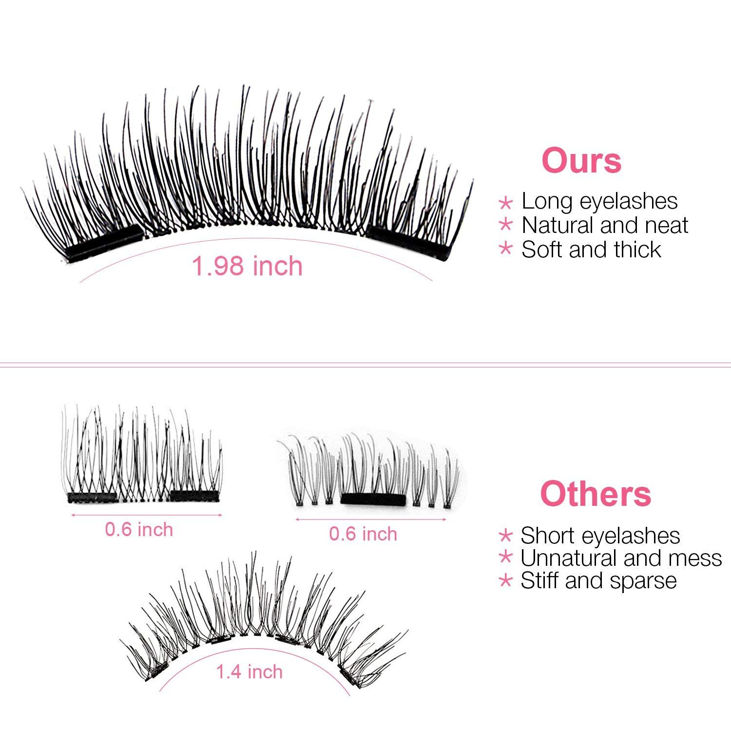 Amazon 3d Magnetic Eyelashes Natural Magnet Lashes Extension