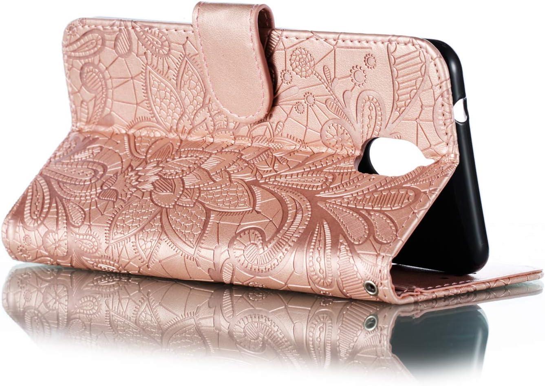 Nokia 5 2018 Grandoin Custodia per Nokia 5.1 Viola Creativo Custodia Retro a Libro Flip Case Portafoglio Cover in Pelle Wallet Magnetica Supporto Cover Cassa Protettiva