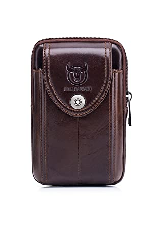 WeeDee Riñonera Hombre Cuero Bolsa Bolso de Cintura Cinturón Bolsillo Cartera Funda para 4~6 Pulgada Smartphone iPhone 8/7/6/Plus Samsung Galaxy S8 Note 8: ...