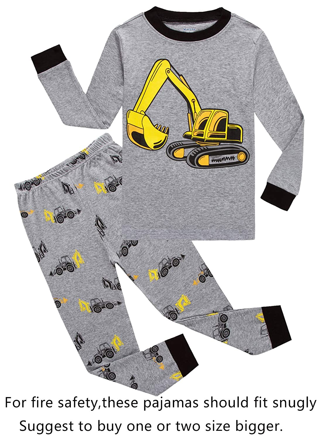 Family Feeling Truck Little Boys Kids Pajamas Sets 100% Cotton Pjs Toddler CCTruckDDD