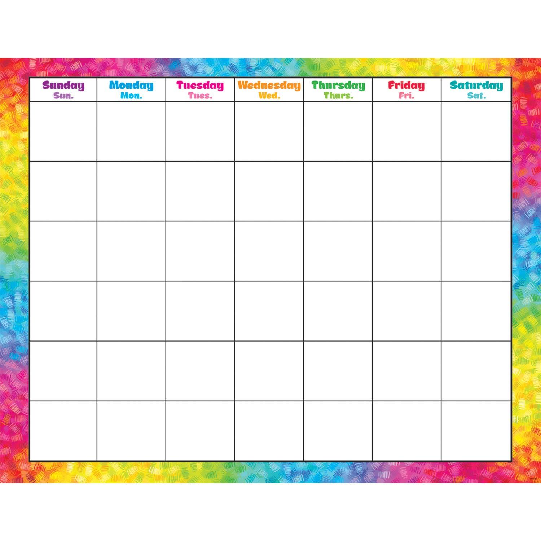 Trend Enterprises Colorful Pinselstriche (monatlich) Zeitvertreib Kalender (t-27011)