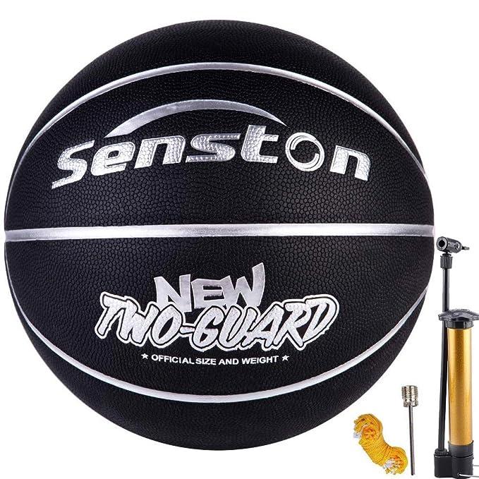 Senston Balon Baloncesto Interior/Exterior Balon de Baloncesto ...